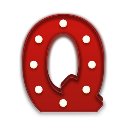 Giggle Beaver Carnival LED Light Q - Red